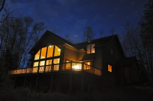 back of house at night